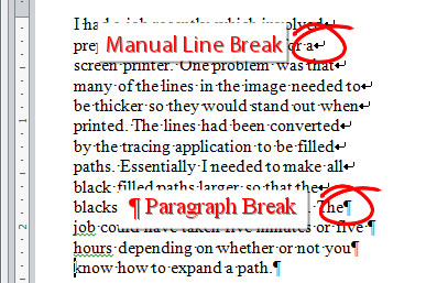 find and replace line breaks 1 Word   joining up short lines