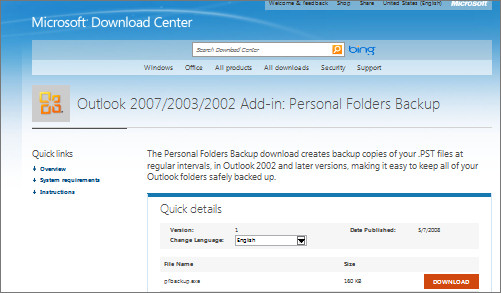 Outlook 2010 backup 1 Outlook 2010: backup gets worse (if that's possible)