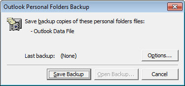 Outlook 2010 backup opener Outlook 2010: backup gets worse (if that's possible)