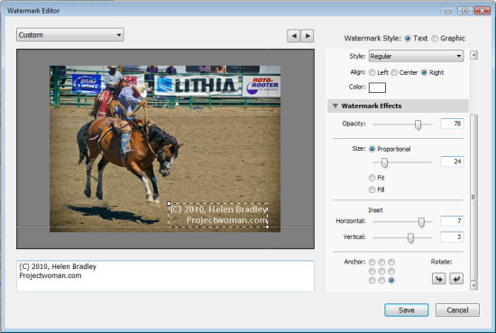 Copyright Watermark Your Images In Lightroom 3 Projectwoman