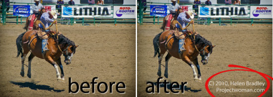 WatermarksInLightroom before after Copyright watermark your images in Lightroom 3