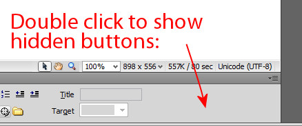 dreamweaver expand collapse buttons on properties panel missing 31 Dreamweaver – Properties inspector missing buttons