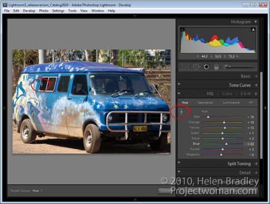 Lightroom targetted adjustment tool 3 e1315869358941 Targeted adjustments in Lightroom