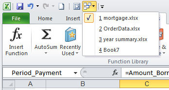 Switch between windows excel word Switch between open documents in Excel and Word