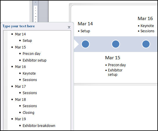timeline in microsoft word 2010