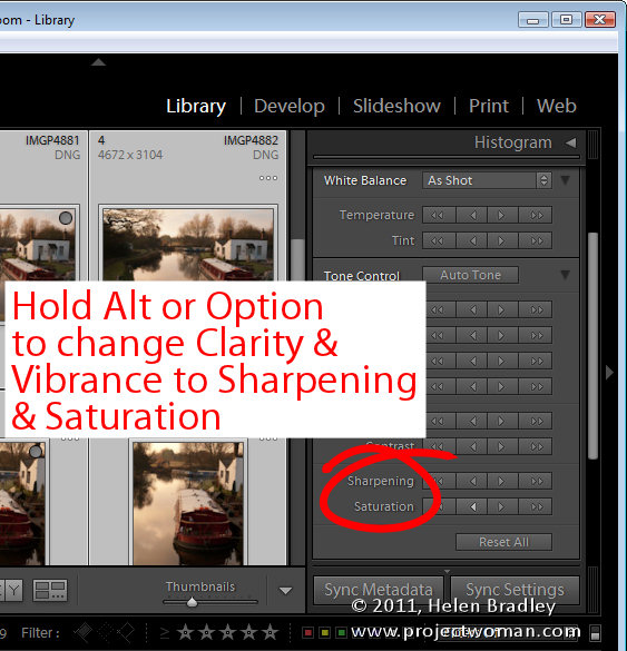 Lightroom quick develop module 5 Work in the Lightroom Quick Develop panel