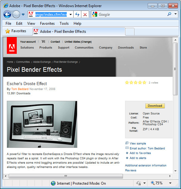 PS droste effect step1 Install and use the Droste Filter in Photoshop CS4, CS5 & CS5.5