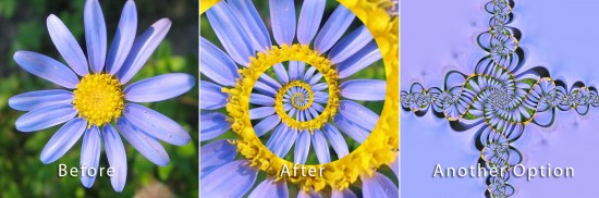 Photoshop droste effect before after e1317679260206 Install and use the Droste Filter in Photoshop CS4, CS5 & CS5.5