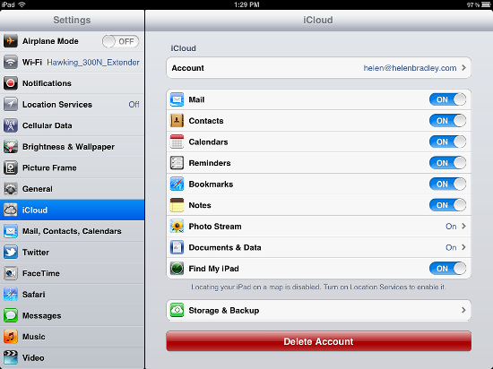 icloud setup on ipad How to set up your PC and your iPad for the free iWork and iCloud
