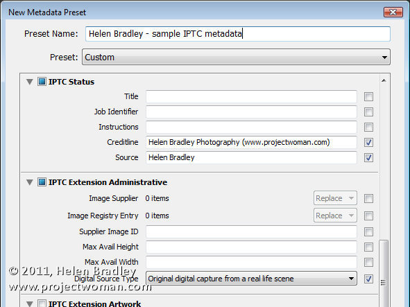 iptc metadata in lightroom 4 Lightroom: Add your IPTC metadata on Importing images