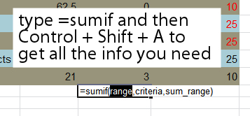 excel add formula arguments Quickly access Excel 2010 formula requirements