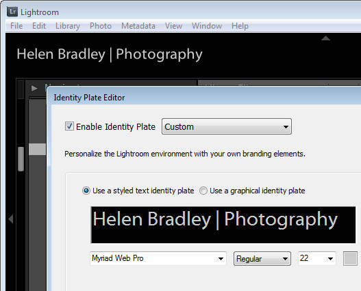 personalize 1 Personalize Lightroom with identity plates