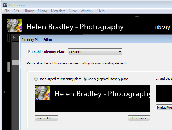 personalize 3 Personalize Lightroom with identity plates
