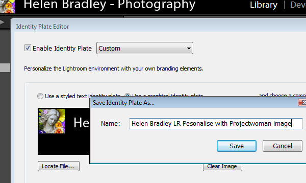 personalize 4 Personalize Lightroom with identity plates