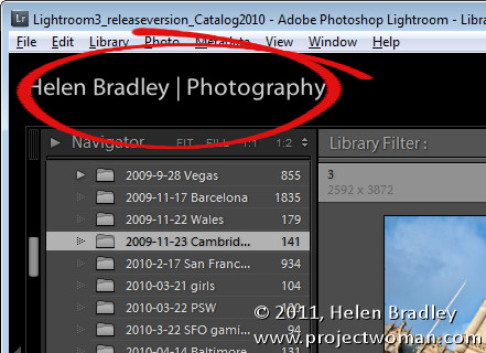 personalize opener Personalize Lightroom with identity plates