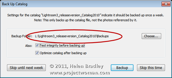 Delete lightroom catalog backup 3 Deleting catalog backup files