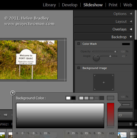 LR identity plates and slideshows 1 Slideshow Titles with Identity Plates in Lightroom