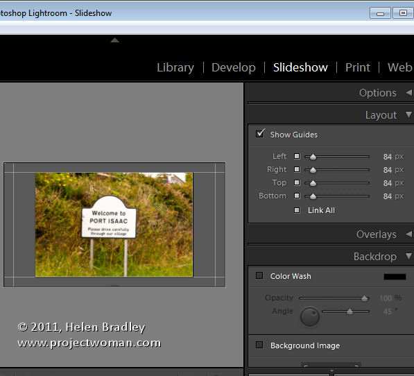 LR identity plates and slideshows 2 Slideshow Titles with Identity Plates in Lightroom