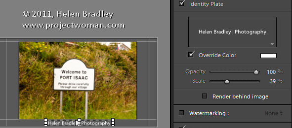 LR identity plates and slideshows 5 Slideshow Titles with Identity Plates in Lightroom