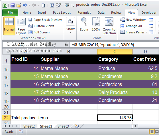 Excel conditional sum with sumif Excel   conditional sums