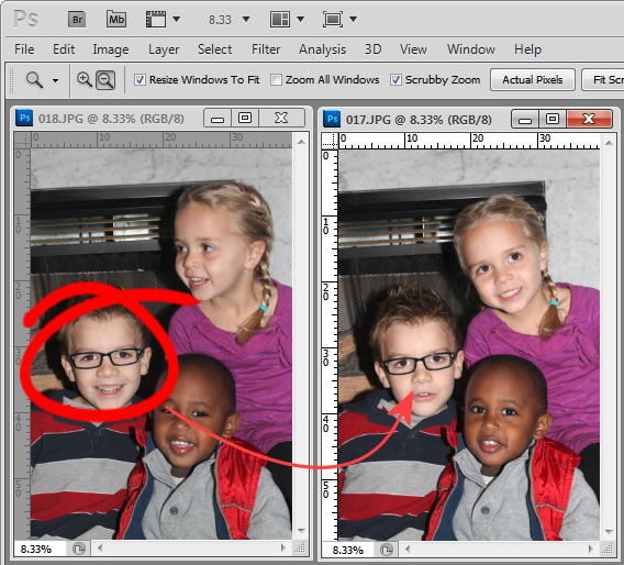 Photoshop replace a face step1 Photoshop   Replace a Face