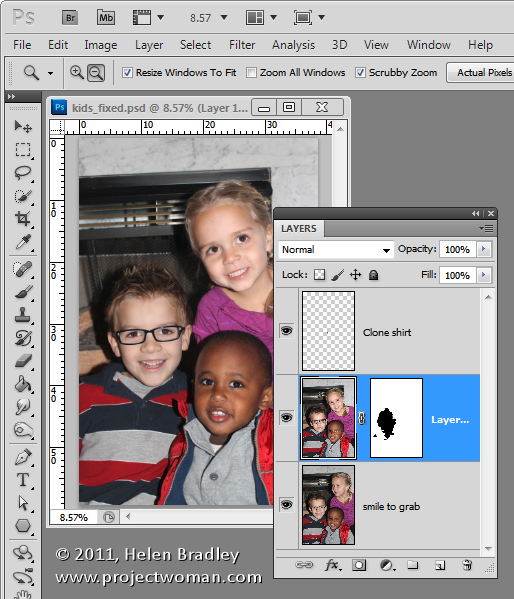 how to add a mask to a group in photoshop