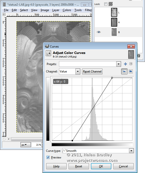 ho hum to wow in Gimp with LAB step6 Ho Hum to Wow! in Gimp