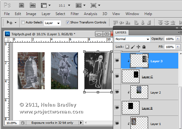 PS collage step 6 Templates in Photoshop