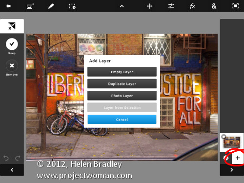 Photoshop touch first looks step5 Edit and Create on the go with Adobe Photoshop Touch