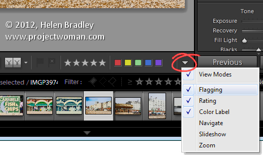 Lightroom 3 flag images in Develop module Lightroom   flagging in the Develop module