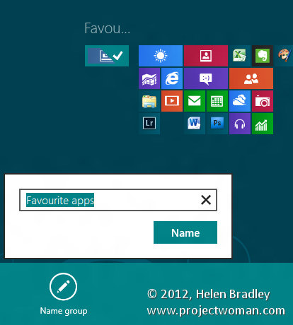 Windows 8 groups name group step3 Making Groups in Windows 8