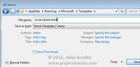 save a document as a template in word 2010 step1 e1334179328964 Office 2010 – how to save files as templates