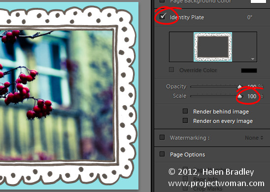 Lightroom photo frame step4 Add a Photo Border in Lightroom