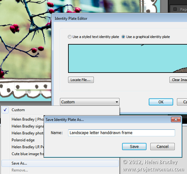Lightroom photo frame step5 Add a Photo Border in Lightroom