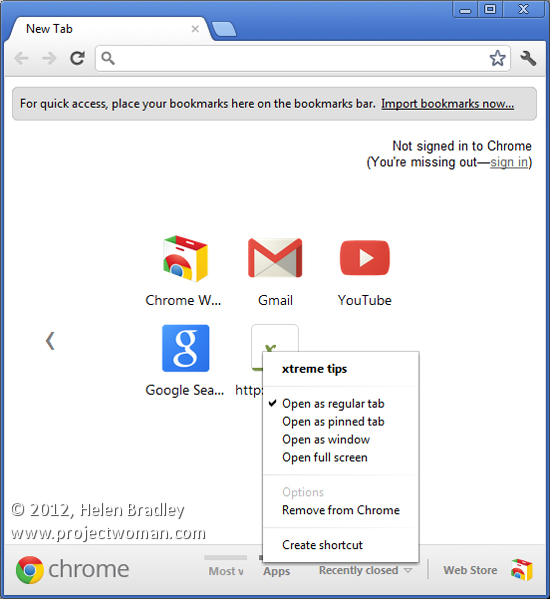 chrome3 Make a Website a Chrome App