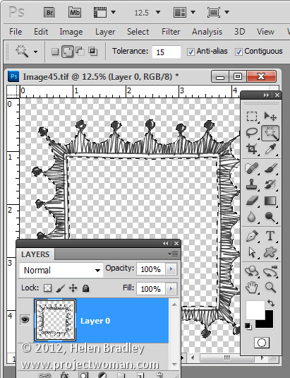 clean up line art in photoshop2 Clean up scanned line drawings in Photoshop