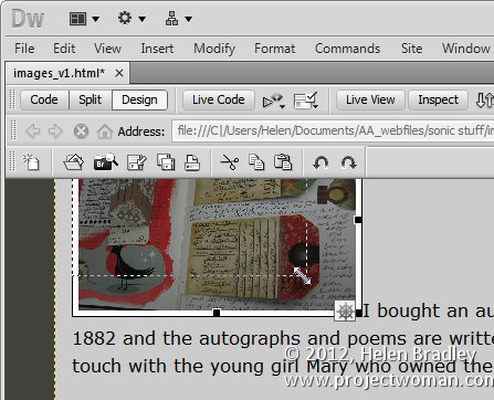 dreamweaver image resizing scaling 2 Resize Images in Dreamweaver