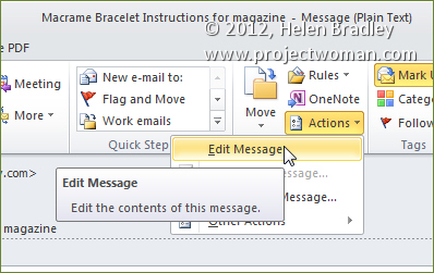 edit received outlook emails step1 Add or Edit Outlook E mail Subject  Lines