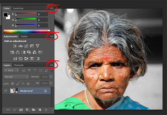 10 Trevors Photoshop tip of the Week   Dropdown Menus in Palettes