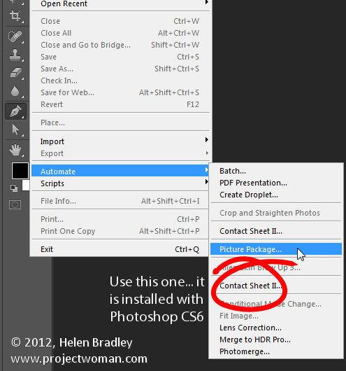 step5 Install Picture Package in Photoshop CS6   step by step