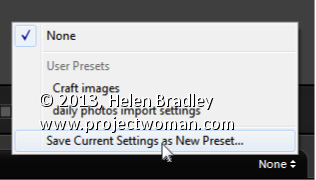 Lightroom Create an Import Preset Lightroom Tip   Create an Import Preset