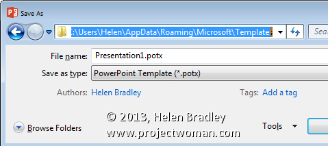 What to do when your powerpoint 2013 templates go missing for Appdata roaming microsoft templates