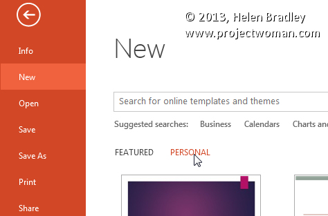 What to do when your powerpoint 2013 templates go missing you need to set up powerpoint toneelgroepblik Image collections