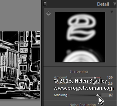 Lightroom Mask the Sharpening Effect Lightroom Tip   Sharpen only the edges in the image