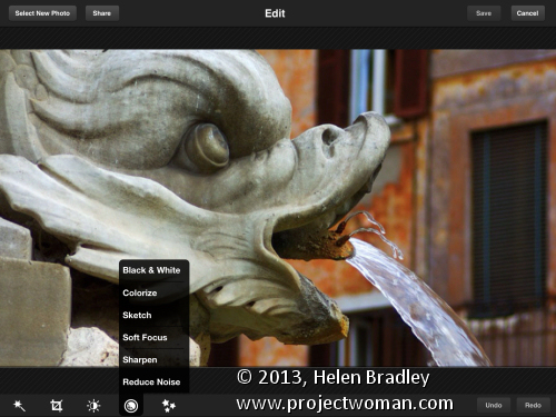 Photoshop Express features Updated review   Photoshop Express for the iPad