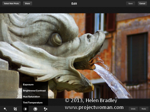 Photoshop Express tools Updated review   Photoshop Express for the iPad