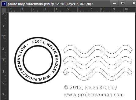 make a watermark image in photoshop step10 Photoshop Tip   Create an Image Watermark