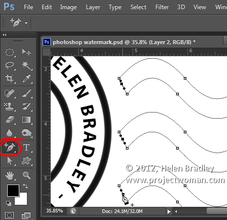 make a watermark image in photoshop step11 Photoshop Tip   Create an Image Watermark