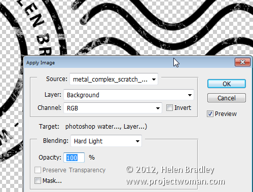make a watermark image in photoshop step15 Photoshop Tip   Create an Image Watermark
