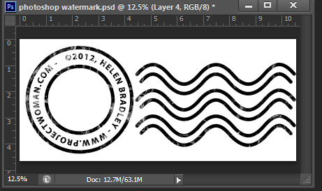 make a watermark image in photoshop step16 Photoshop Tip   Create an Image Watermark